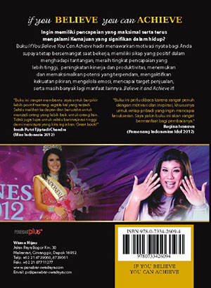 Cover Belakang - Buku if you BELIEVE you can ACHIEVE